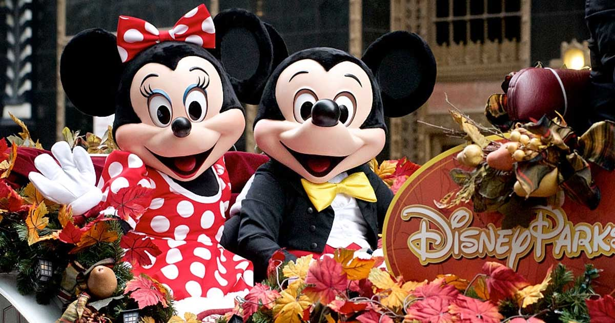 Minnie y Mickey Mouse.
